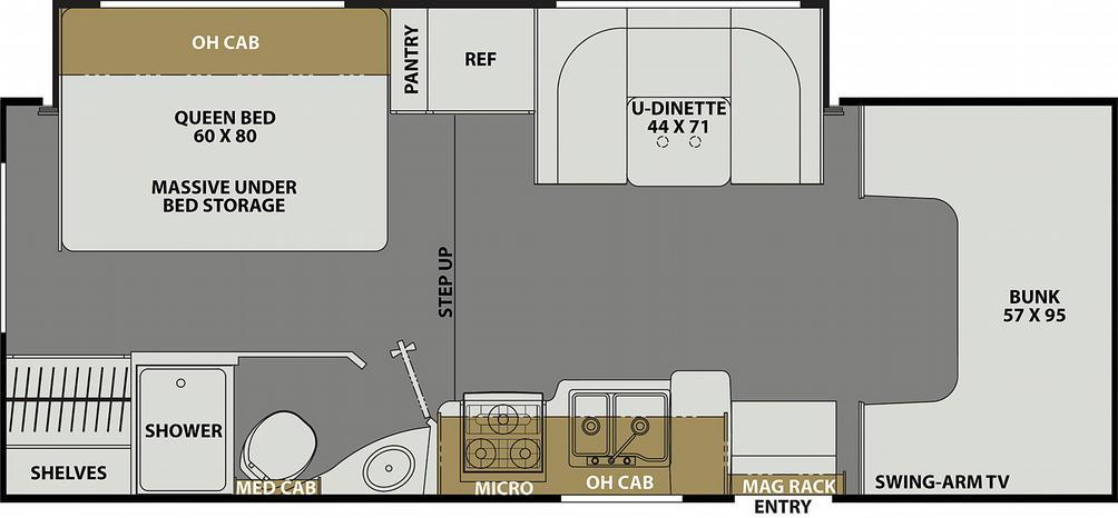 Freelander 23FS Ford Floor Plan - 2021