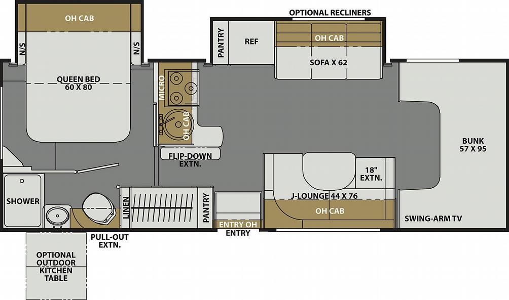 Freelander Premier 26DS Ford Floor Plan - 2021