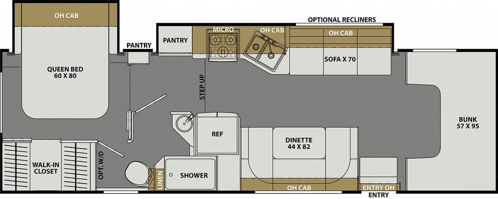 Freelander Premier 31FS Ford Floor Plan - 2021
