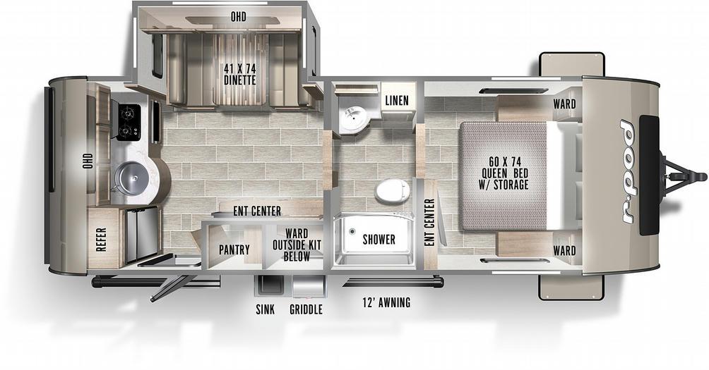 R-Pod 202 Floor Plan - 2021