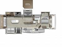 Sabre 36BHQ Floor Plan - 2021