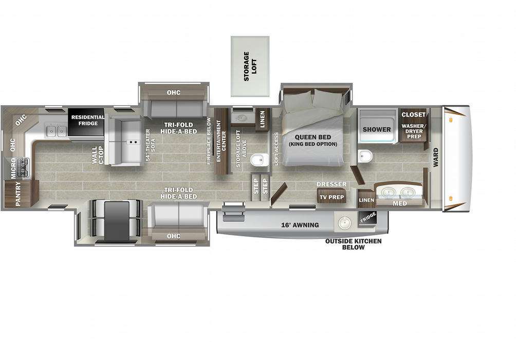 Sabre 37FBT Floor Plan - 2021