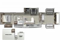 Sabre 37FLL Floor Plan - 2021