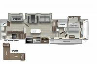 Sabre 38DBQ Floor Plan - 2021