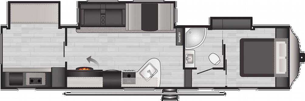 Springdale 340FWBH Floor Plan - 2021