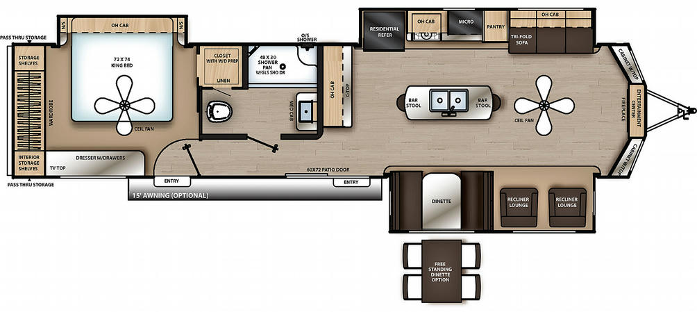 Catalina Destination 39MKTS Floor Plan - 2021