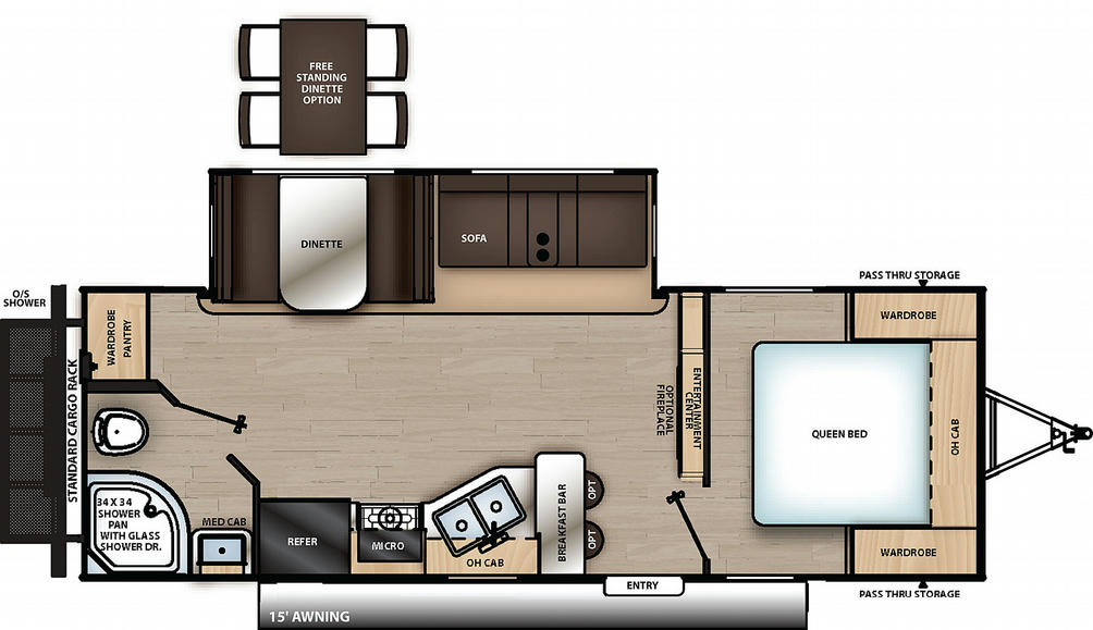 Catalina Legacy Edition 243RBS Floor Plan - 2021