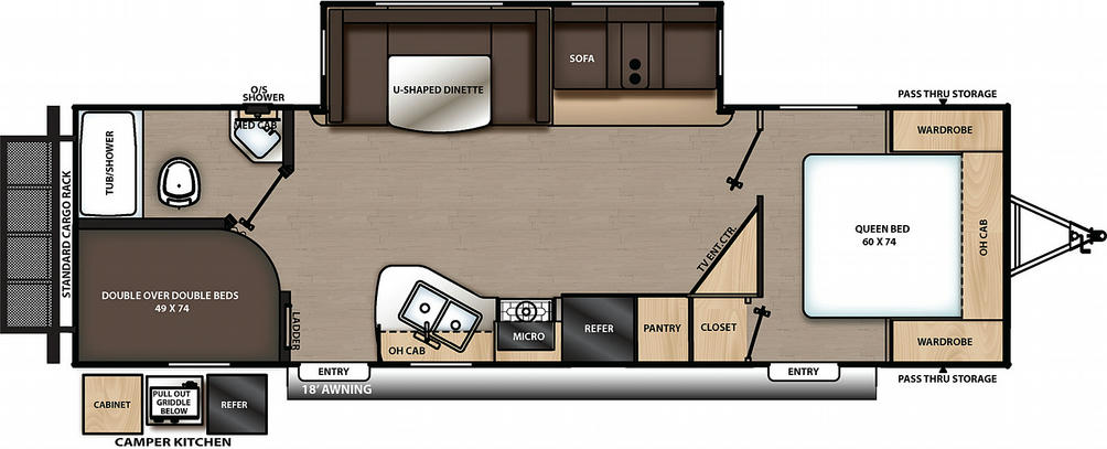 Catalina Legacy Edition 263BHSCK Floor Plan - 2021
