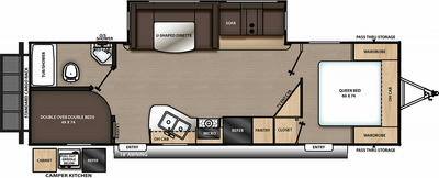 Catalina Legacy Edition 263BHSCK Floor Plan - 2021
