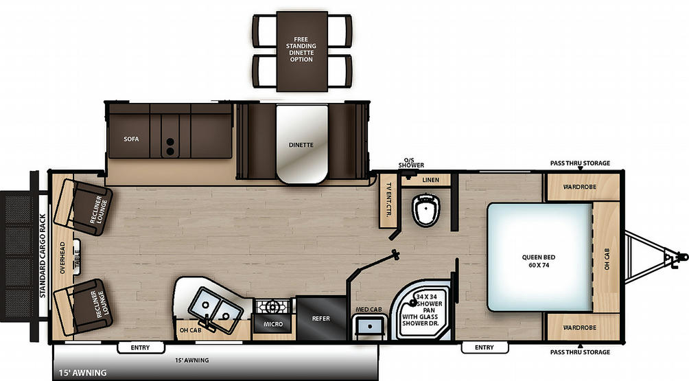 Catalina Legacy Edition 263RLS Floor Plan - 2021