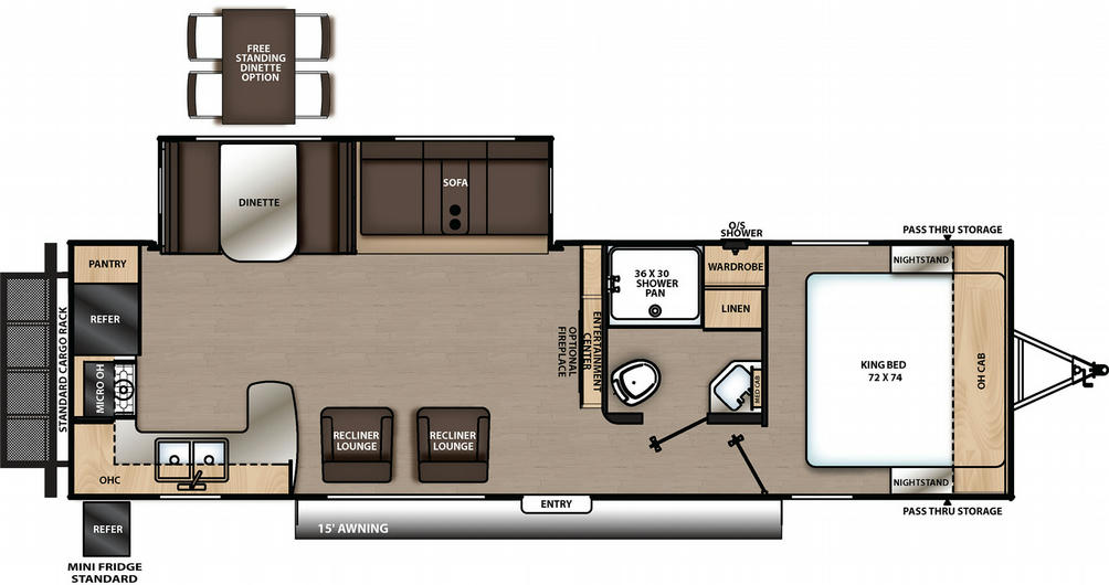 Catalina Legacy Edition 283RKS Floor Plan - 2021