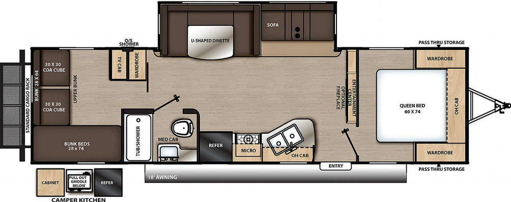 Catalina Legacy Edition 293QBCK Floor Plan - 2021
