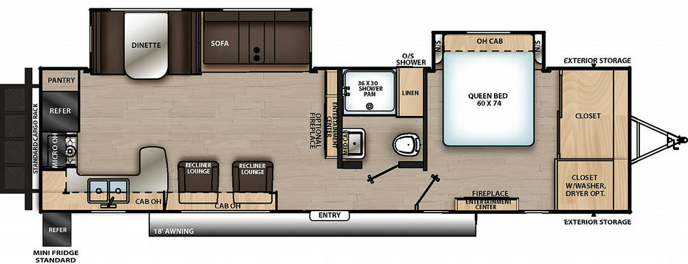 Catalina Legacy Edition 303RKDS Floor Plan - 2021