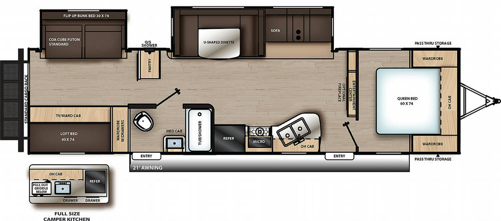 Catalina Legacy Edition 323BHDSCK Floor Plan - 2021