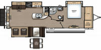 Catalina Legacy Edition 333RETS Floor Plan - 2021