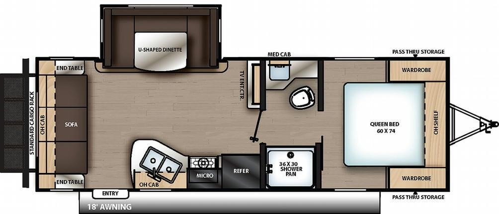 Catalina Summit Series 231MKS Floor Plan - 2021