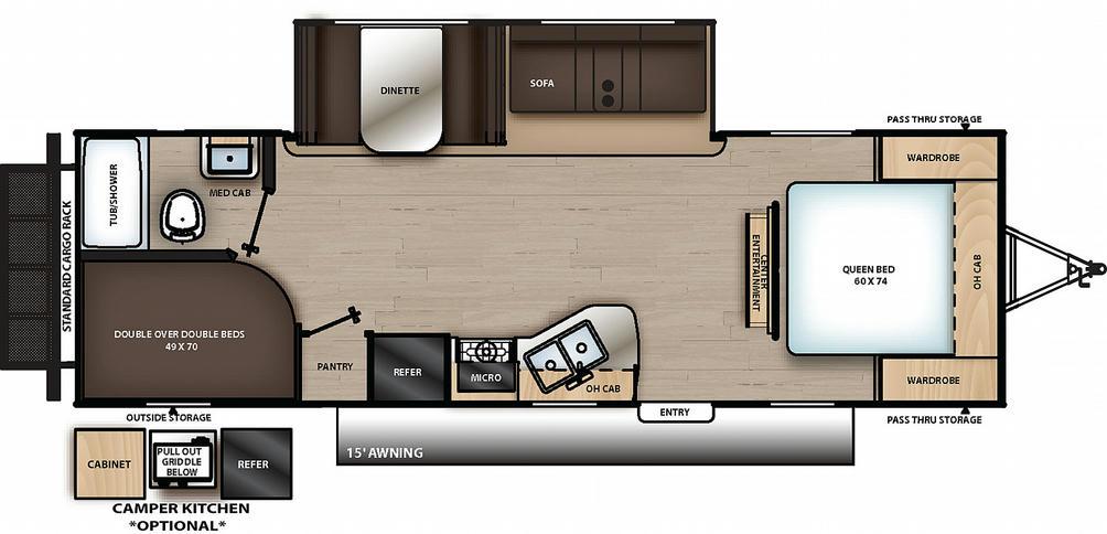 Catalina Summit Series 261BHS Floor Plan - 2021