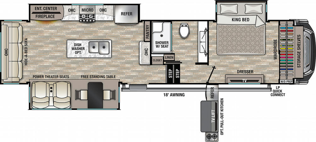 Cedar Creek 345IK Floor Plan - 2021