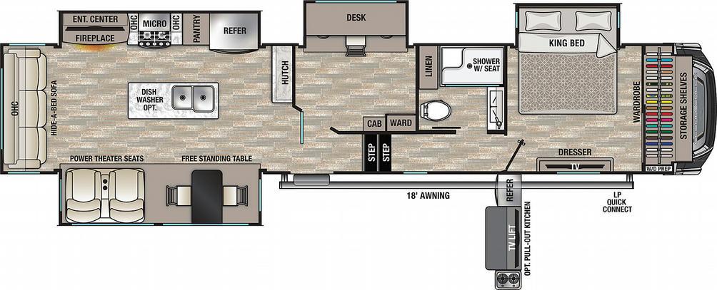 Cedar Creek 377OF Floor Plan - 2021
