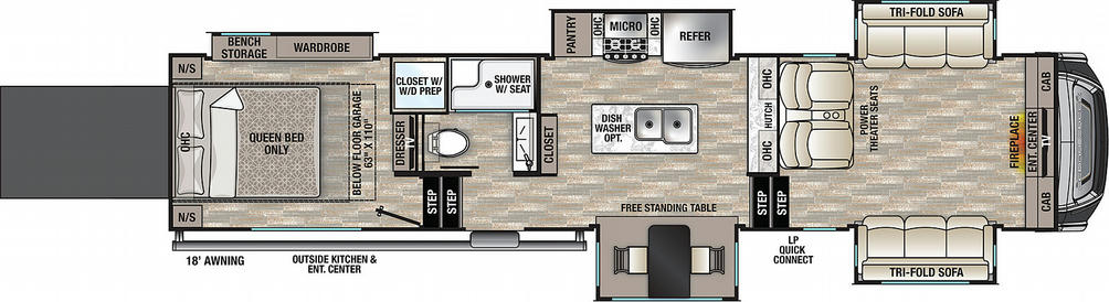 Cedar Creek 385TH Floor Plan - 2021