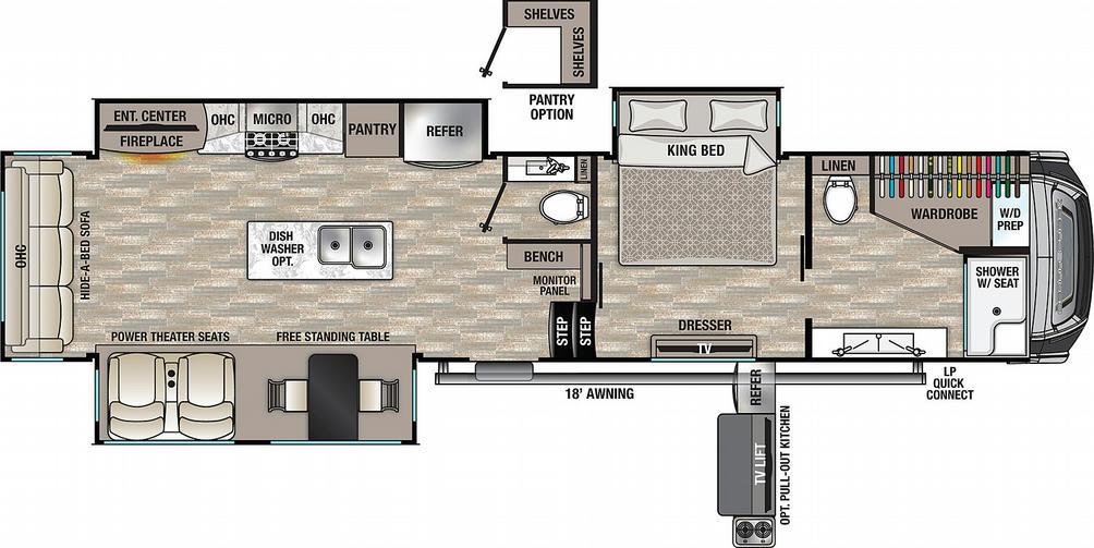 Cedar Creek 388DB Floor Plan - 2021