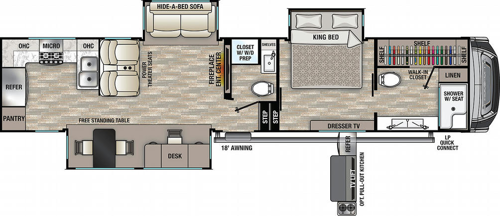 Cedar Creek 388RK Floor Plan - 2021