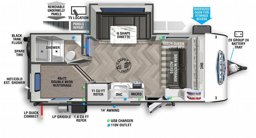 Salem FSX 178BHSKX Floor Plan - 2021
