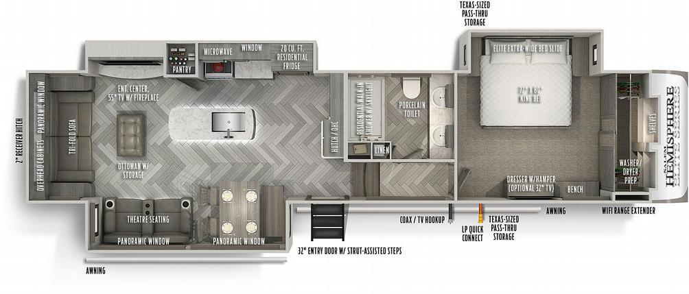 Salem Hemisphere Elite Series 34RL Floor Plan - 2021