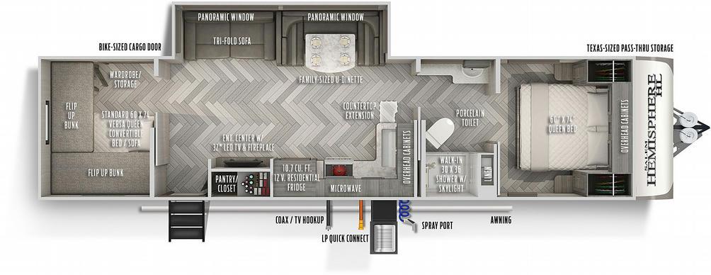 Salem Hemisphere Hyper-Lyte 29XBHL Floor Plan - 2021
