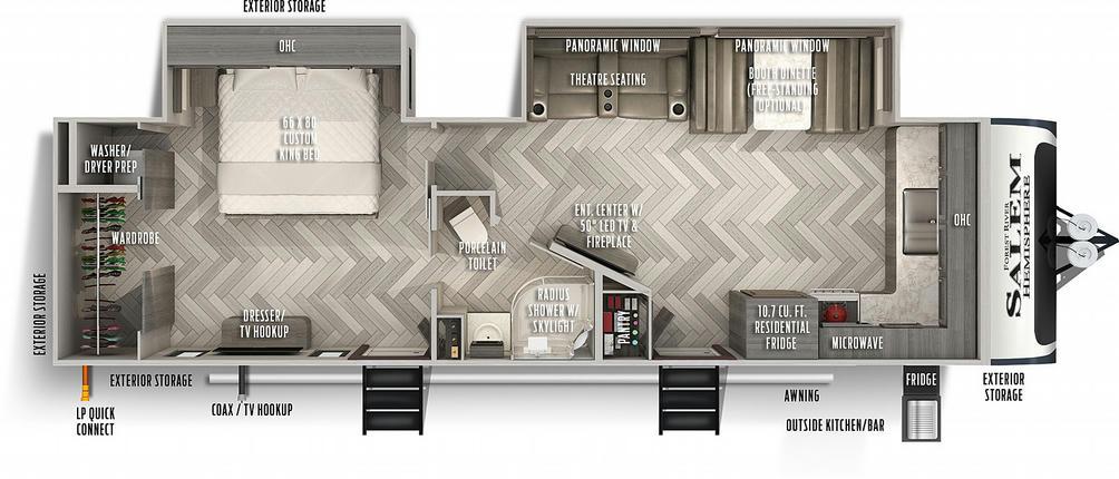 Salem Hemisphere 270FKS Floor Plan - 2021