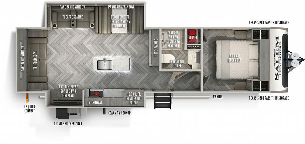 Salem Hemisphere 273RL Floor Plan - 2021