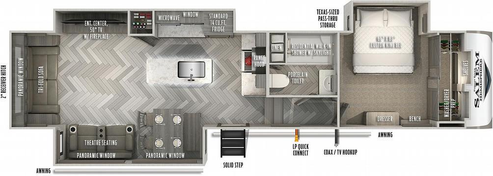 Salem Hemisphere 338BAR Floor Plan - 2021