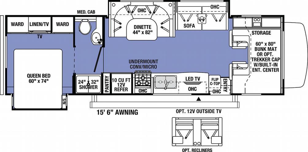 Sunseeker 3010DS FORD Floor Plan - 2021