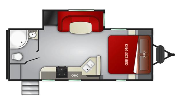 2020 Cruiser MPG 2120RB Floor Plan