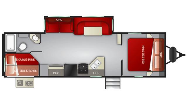 2020 Cruiser MPG 2750BH Floor Plan