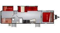 2020 Cruiser MPG 3100BH Floor Plan