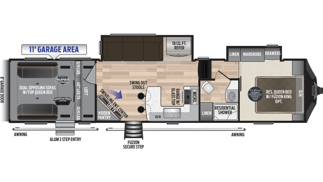 2020 Fuzion 369 Floor Plan