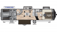 2020 Fuzion 373 Floor Plan