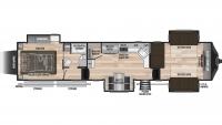 2020 Fuzion 410 Floor Plan
