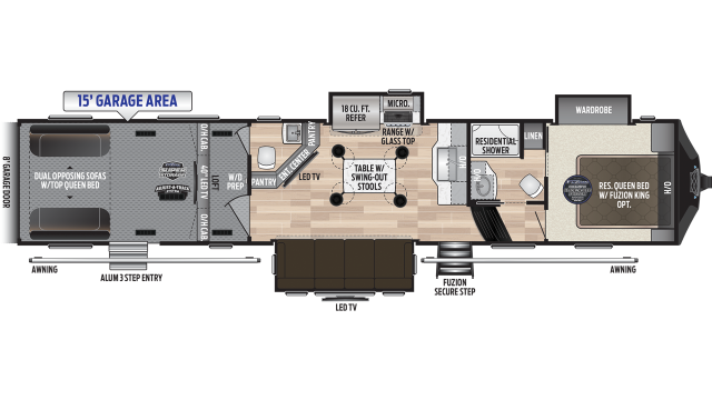 2020 Fuzion 419 Floor Plan