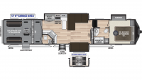 2020 Fuzion 429 Floor Plan