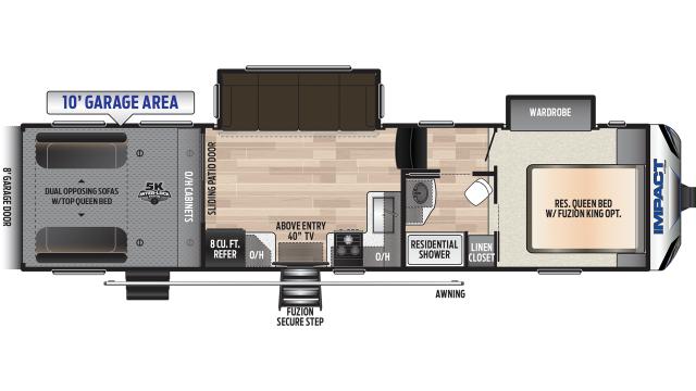 2020 Impact 311 Floor Plan
