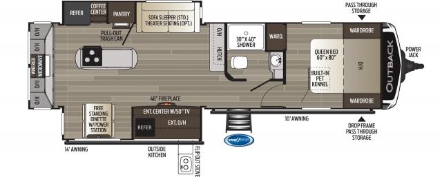2020 Outback 300ML Floor Plan
