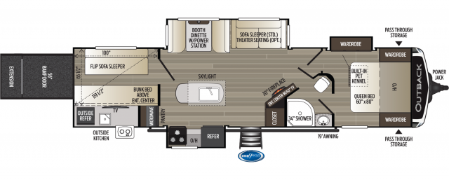 2020 Outback 335CG Floor Plan