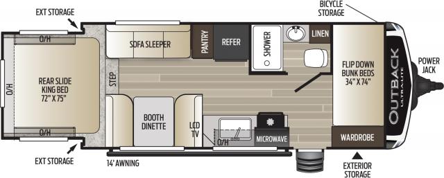 2020 Outback Ultra Lite 210URS Floor Plan