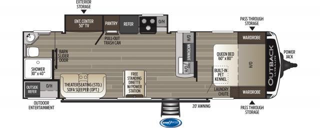 2020 Outback Ultra Lite 280URB Floor Plan