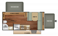 2019 Launch Outfitter 7 17SB Floor Plan