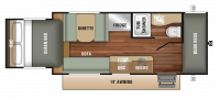 2018 Launch Outfitter 7 19BHS Floor Plan