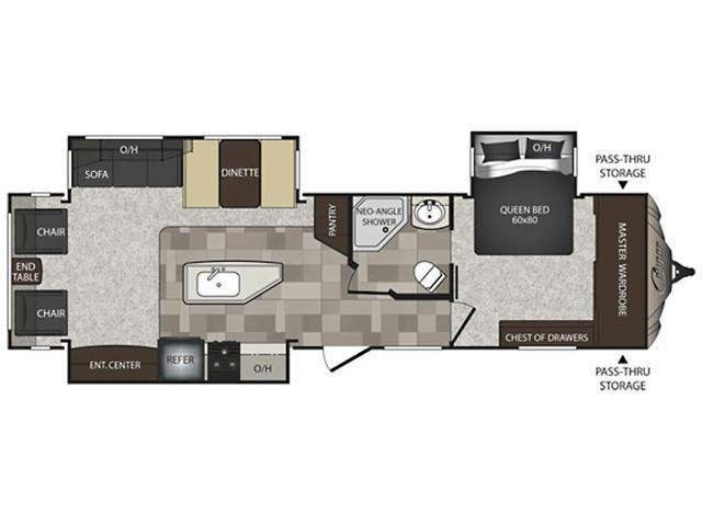 2014 Cougar High Country 319RLS Floor Plan