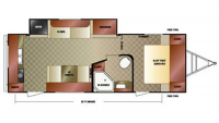 2014 Sport Trek 250VRK Floor Plan